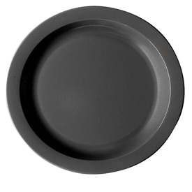"Cambro 10CWNR110 - Plate Narrow Rim, 10"",  Black - Pkg Qty 48"