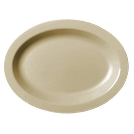 """Cambro 120CWP133 - Plate Oval 12"""",  Beige - Pkg Qty 24"""