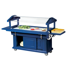 Cambro 5UBR186 - Ultra Food Bar with Cabinet Base 33x63, Navy Blue
