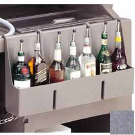 Cambro 730SR191 - Speed Rail, 7-bottle, 29x6-1/2x14-5/8, w/built-in partitions, Granite Gray