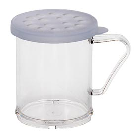 Cambro 96SKRP135 - Shaker With Parsley Lid, Clear - Pkg Qty 12