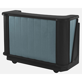 Cambro BAR650421 - Mid Size, Bottle Service, Standard Decor, Granite Green w/Black Base