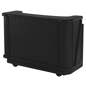 Cambro BAR650CP110 - Mid Size Partially Equipped for Soda Service, Black