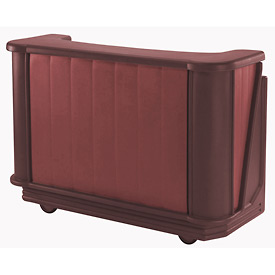 Cambro BAR650CP189 - Mid Size Partially Equipped for Soda Service, Two Tone, Brown/Mahogany