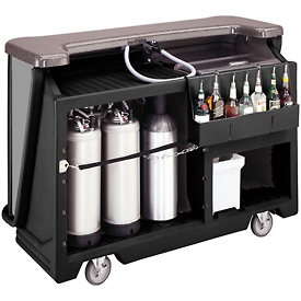 Cambro BAR650DSDX667 - Mid Size w/Pre-Mix System Soda Canisters, Manhattan Decor