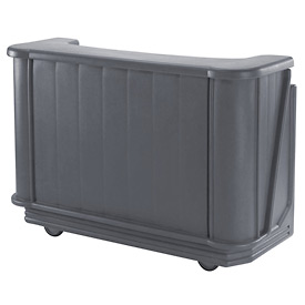 Cambro BAR650PM191 - Mid Size w/Post-mix system Bag-in-box Syrup, Granite Gray