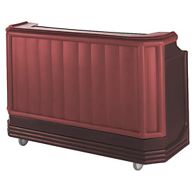 Cambro BAR730CP189 - Large Size Partially Equipped for Soda Service, Two Tone, Brown/Mahogany