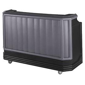 Cambro BAR730CP420 - Large Size Partially Equipped for Soda Service, Granite Gray w/Black Base