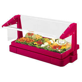 Cambro BBR480158 - Buffet Bar with Sneeze Guard 24 x 48, Hot Red