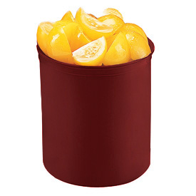 Cambro CP12416 - Solid Color Crock With Lid 1.2qt, Cranberry - Pkg Qty 12