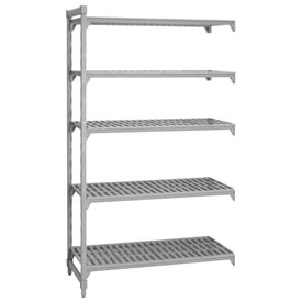 Camshelving® Add-On Unit - 5 Vented Shelves 24x60x72