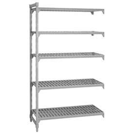 Camshelving® Add-On Unit - 5 Vented Shelves 18x36x72