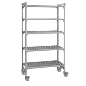 Cambro Premium Mobile Shelf Truck CSUR58367480 - 5 Vented Shelves 18x36x75