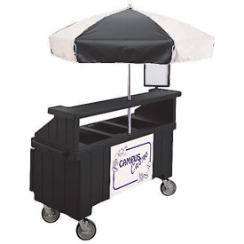 "Cambro CVC72110 - Camcruiser Vending Cart, 1 full size pan, 6"" deep, Black"