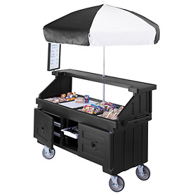 "Cambro CVC724110 - Camcruiser Vending Cart, 4 full size pans, 6"" deep, Black"