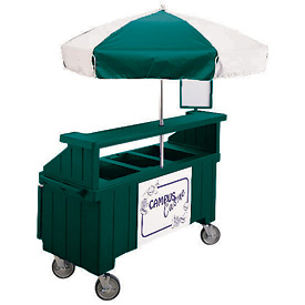 "Cambro CVC72519 - Camcruiser Vending Cart, 1 full size pan, 6"" deep, Green"