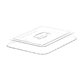 Cambro DCC10135 - Crock Cover For Dc10, Clear - Pkg Qty 6