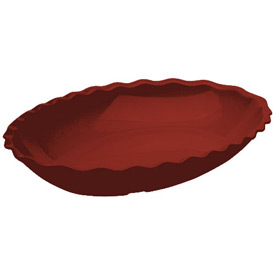 Cambro DP15404 - Deli Platter Oval 15x12, Red - Pkg Qty 6