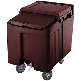 Cambro ICS125L131 - Ice Caddies, Dark Brown, 125 Lbs. Cap., 2 Swivel, 2 locking