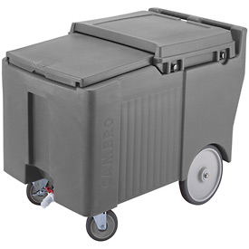 Cambro ICS125LB191 - Ice Caddy, Granite Gray, 125 Lbs. Cap., 4 Swivel, 1 with Brake