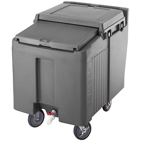 Cambro ICS175L191 - Ice Caddy, Granite Gray, 175 Lbs. Cap., Short, 2 Fixed, 2 Swivel, 1 with Brake