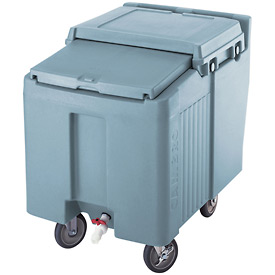 Cambro ICS175L401 - Ice Caddy, Slate Blue, 175 Lbs. Cap., Short, 2 Fixed, 2 Swivel, 1 with Brake