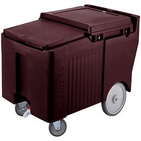 "Cambro ICS175LB131 - Ice Caddy, Brown, 125lbs. Cap, Short, 2 Swivel, 1 w/Brake, 2, 10"" Easy Wheels"