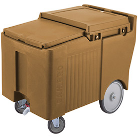 "Cambro ICS175LB157 - Ice Caddy, Beige, 125lbs. Cap, Short, 2 Swivel, 1 w/Brake, 2, 10"" Easy Wheels"