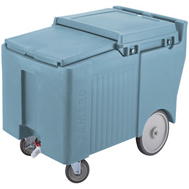 "Cambro ICS175LB401 - Ice Caddy, Blue, 125lbs. Cap, Short, 2 Swivel, 1 w/Brake, 2, 10"" Easy Wheels"