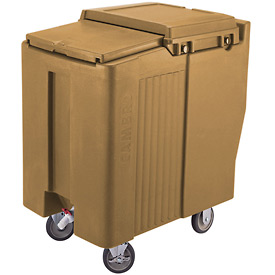 Cambro ICS175T157 - Ice Caddy, Beige, 175 Lbs. Cap., Tall, 2 Fixed, 2 Swivel, 1 with Brake