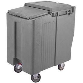 Cambro ICS175T191 - Ice Caddy, Granite Gray, 175 Lbs. Cap., Tall, 2 Fixed, 2 Swivel, 1 with Brake
