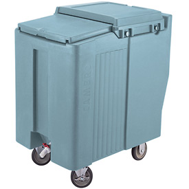 Cambro ICS175T401 - Ice Caddy, Slate Blue, 175 Lbs. Cap., Tall, 2 Fixed, 2 Swivel, 1 with Brake