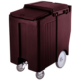 "Cambro ICS175TB131 - Ice Caddy, Brown, 175lbs. Cap, Tall, 2 Swivel, 1 w/Brake, 2, 10"" Easy Wheels"