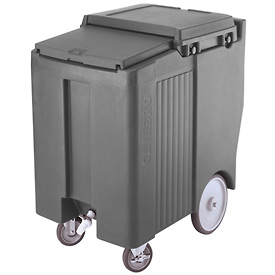 "Cambro ICS175TB191 - Ice Caddy, Gray, 175lbs. Cap, Tall, 2 Swivel, 1 w/Brake, 2, 10"" Easy Wheels"