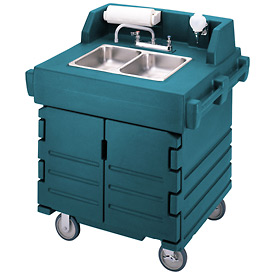 Cambro KSC402192 - Camkiosk Hand Sink Cart, Granite Green