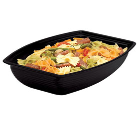 "Cambro RSB1014CW110 - Bowl Ribbed Camwear Rectangular 10"" x 14"", Black - Pkg Qty 4"