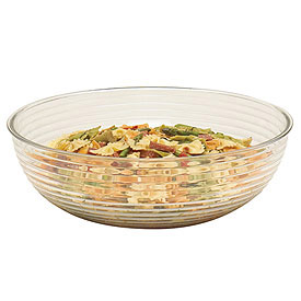 "Cambro RSB12CW135 - Bowl Ribbed Camwear Round 12"", Clear - Pkg Qty 12"