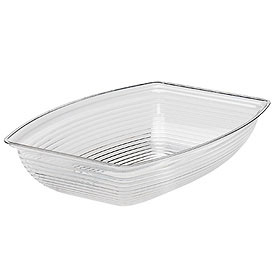 Cambro RSB1419CW135 - Bowl Ribbed Camwear Rectangular 14 x 19, Clear - Pkg Qty 4