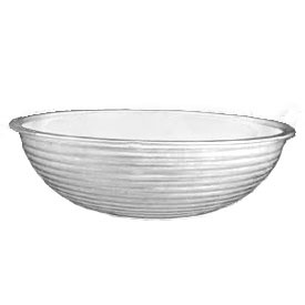 "Cambro RSB8CW148 - Bowl Ribbed Camwear Round 8"", White - Pkg Qty 12"