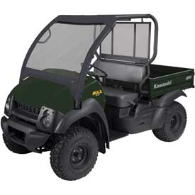 Classic Accessories UTV Front Windshield, Kawasaki Mule 600, Black - 18-094-010401-00