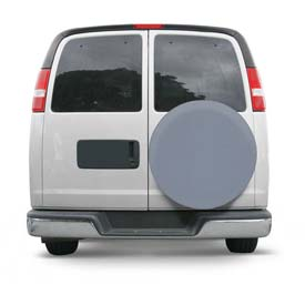 "Classic Accessories OverDrive Custom Fit Spare Tire Cover - 21"" - 22"" Dia., Grey - 80-088-141001-00"