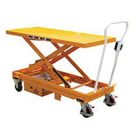 Vestil DC Power Hydraulic Scissor Cart - Single - CART-1000-LD-DC