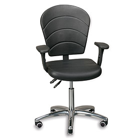 Relius Solutions Optional Arms For Industrial Seating With Full-Size Backrest