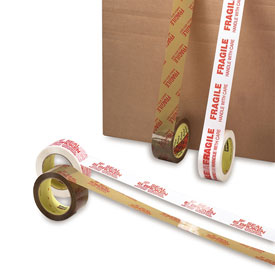 "3M Scotch Brand Printed Message Carton Tape - 2"" X 110 Yards - 1.9 Mil - If Seal Is Broken... - Pkg Qty 36"