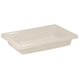 Rubbermaid Bus Utility Tote Box FG350700WHT - 18 x 12 x 3-1/2 - White - Pkg Qty 6
