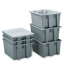 Rubbermaid Palletote Box FG172200GRAY 1.6 Cu. Ft.