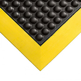 "Wearwell Ortho Stand Mat - 24X36"" - Black/Yellow"