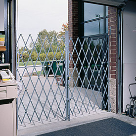 Relius Solutions Folding Steel Pivoting Double Security Gates - 12'W Expanded - 6.5'H