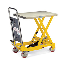 Hercules Mobile Scissor Lift Tables - 2200-Lb. Capacity - Steel Top, Painted Blue