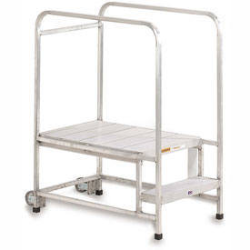 "Relius Solutions Mobile Aluminum Work Platforms - Platform: 42""Wx24""Dx20""H"